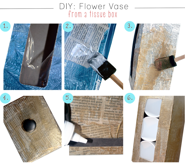 Diy Flower Vase From A Tissue Box