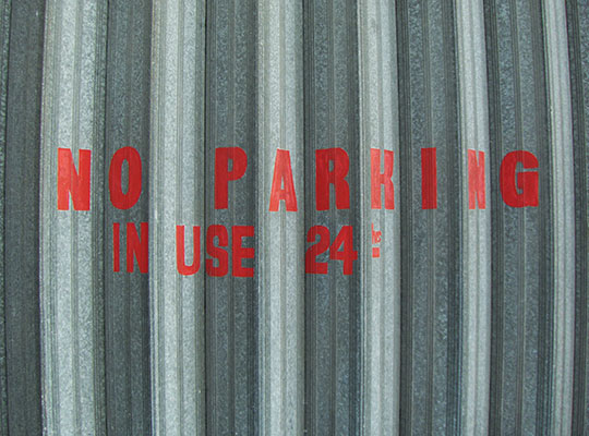 urban photography, no parking, urban photo, grey, red, art, contemporary, sign, city life,