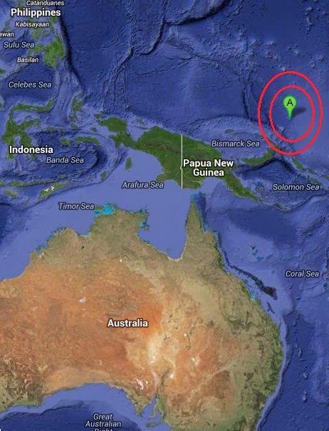 Magnitude 5.0 Earthquake of Rabaul, Papua New Guinea 2014-09-07