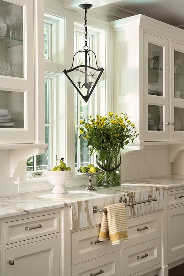 que encimera elegir en la cocina -marmol blanco
