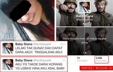 5 Gambar Panas Kerana Haziq Baby Diana Hilang Dara