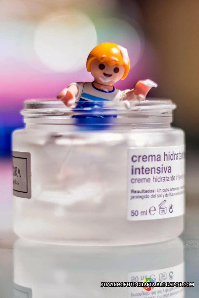 Playmobil en la crema hidratante