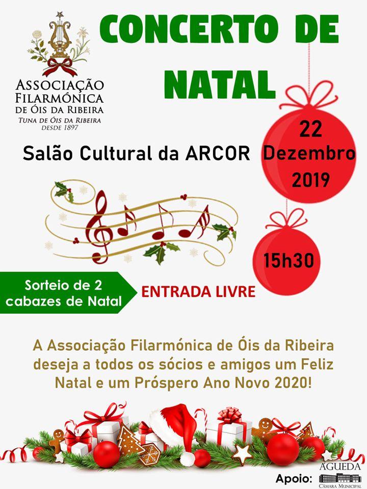 CONCERTO DE NATAL DE 2019 da TUNA / AF DE ÓIS DA RIBEIRA!