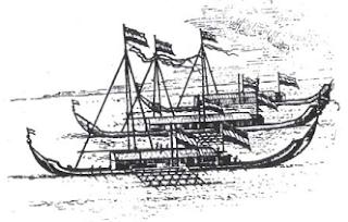 Gambar Perahu Kora Kora untuk Pelayaran Hongi