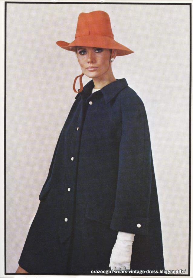 1967 tent coat Christian Dior 60s 1960