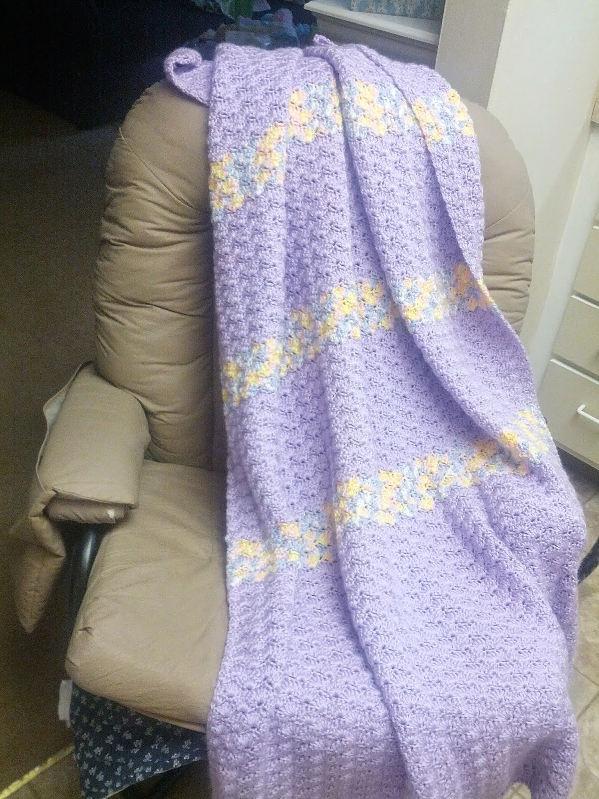 crochet shell stitch blanket pattern