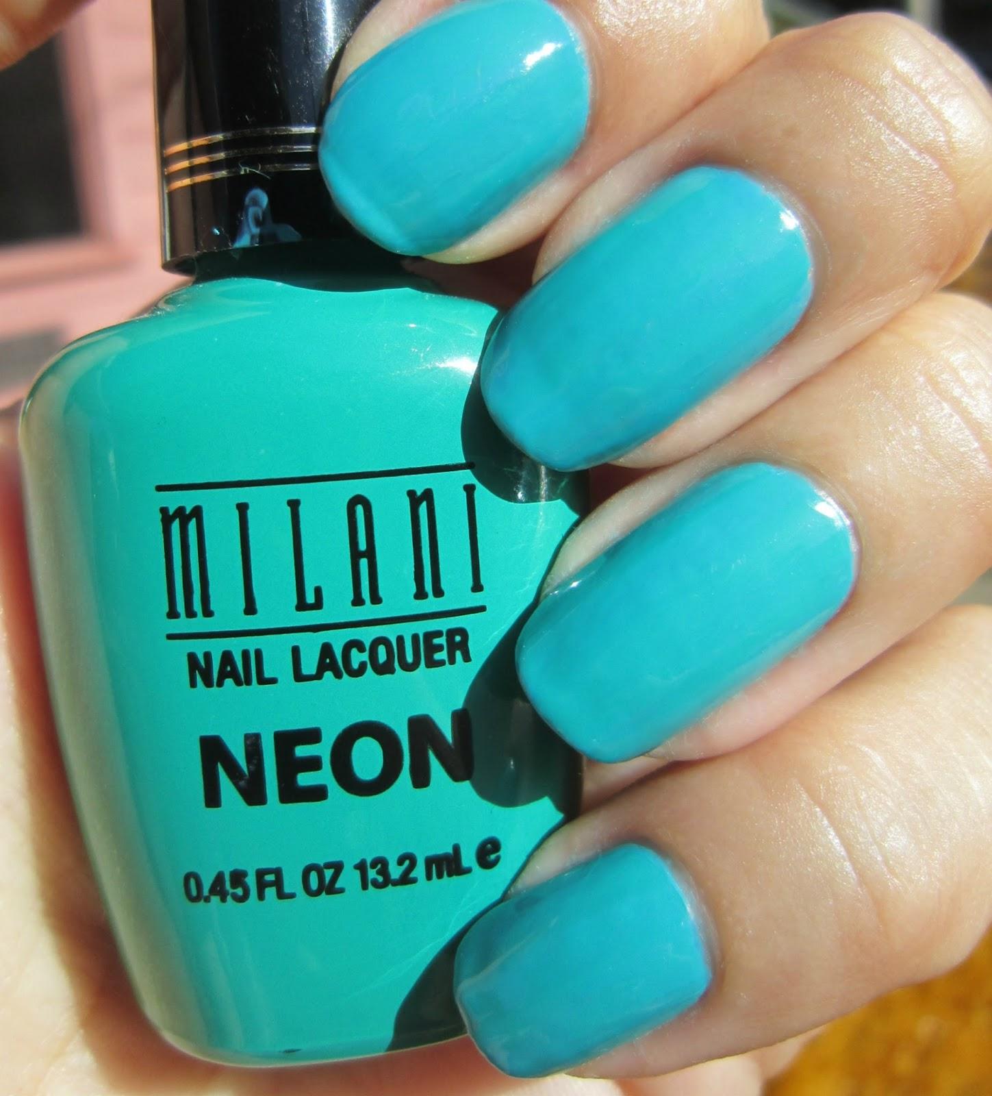 Concrete and Nail Polish: Neon
