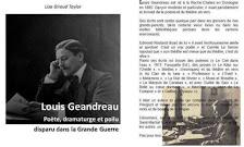 Ma biographie sur Louis Geandreau