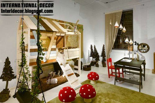 jungle room, kids room themes decorating ideas