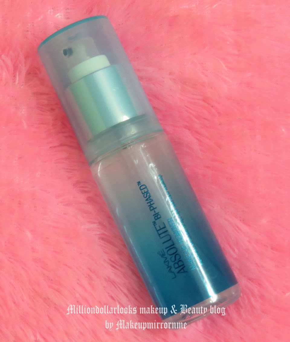 Lakme Absolute Bi-Phased Make-up Remover review and pictures, Affordable makeup remover, Makeup remover available in India, Beauty blogger India, Indian makeup and beauty bog, Makeup and beauty blog India, Milliondollarlooks makeup and beauty blog