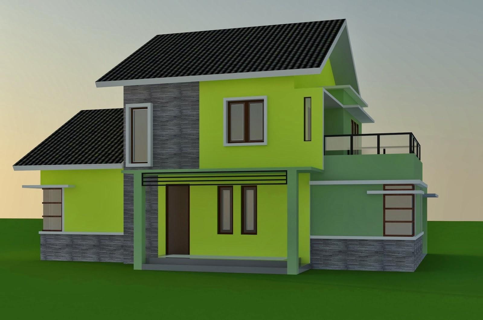 gambar warna cat dinding rumah minimalis tampak depan