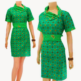 DB3260 Model Baju Dress Batik Modern Terbaru 2013
