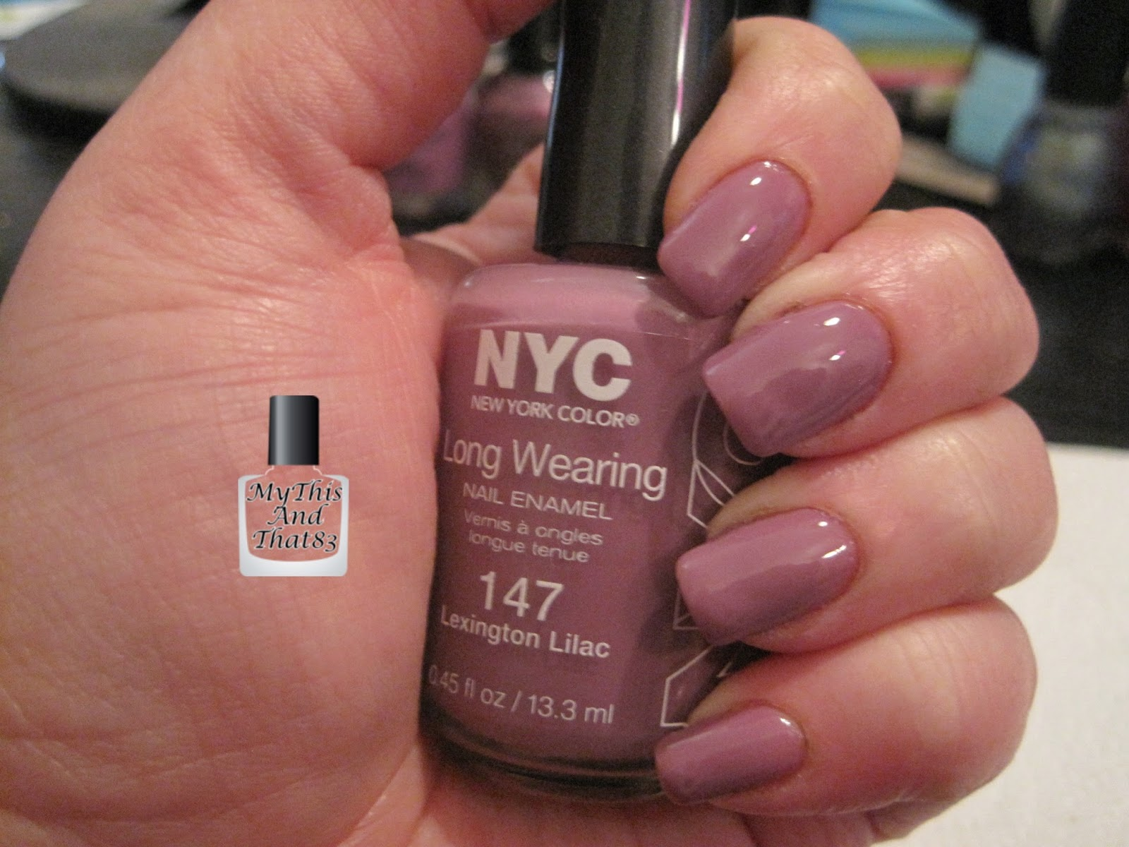 NYC nail polish Lexington Lilac