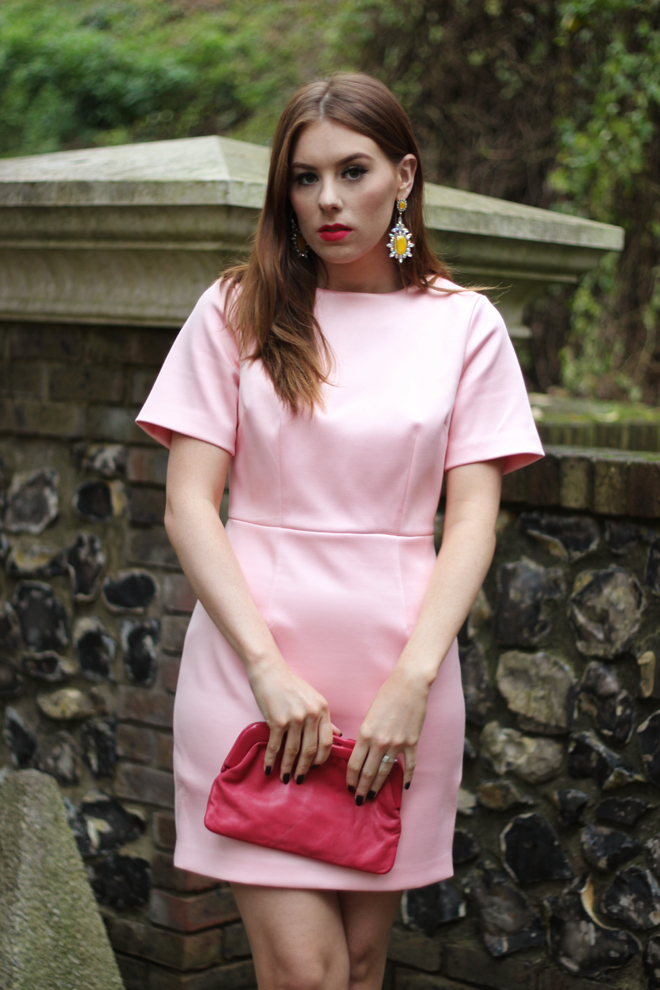 Christmas Dress Ideas - Pink Warehouse Dress | UK Fashion Blogger