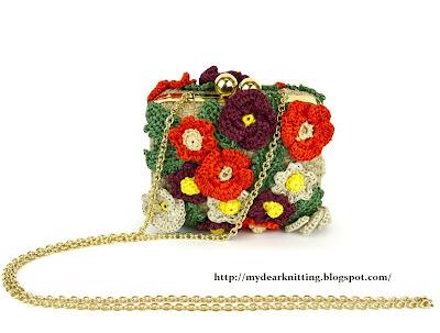 маленькая вязаная сумка