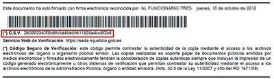 Código Seguro de Verificación (CSV)