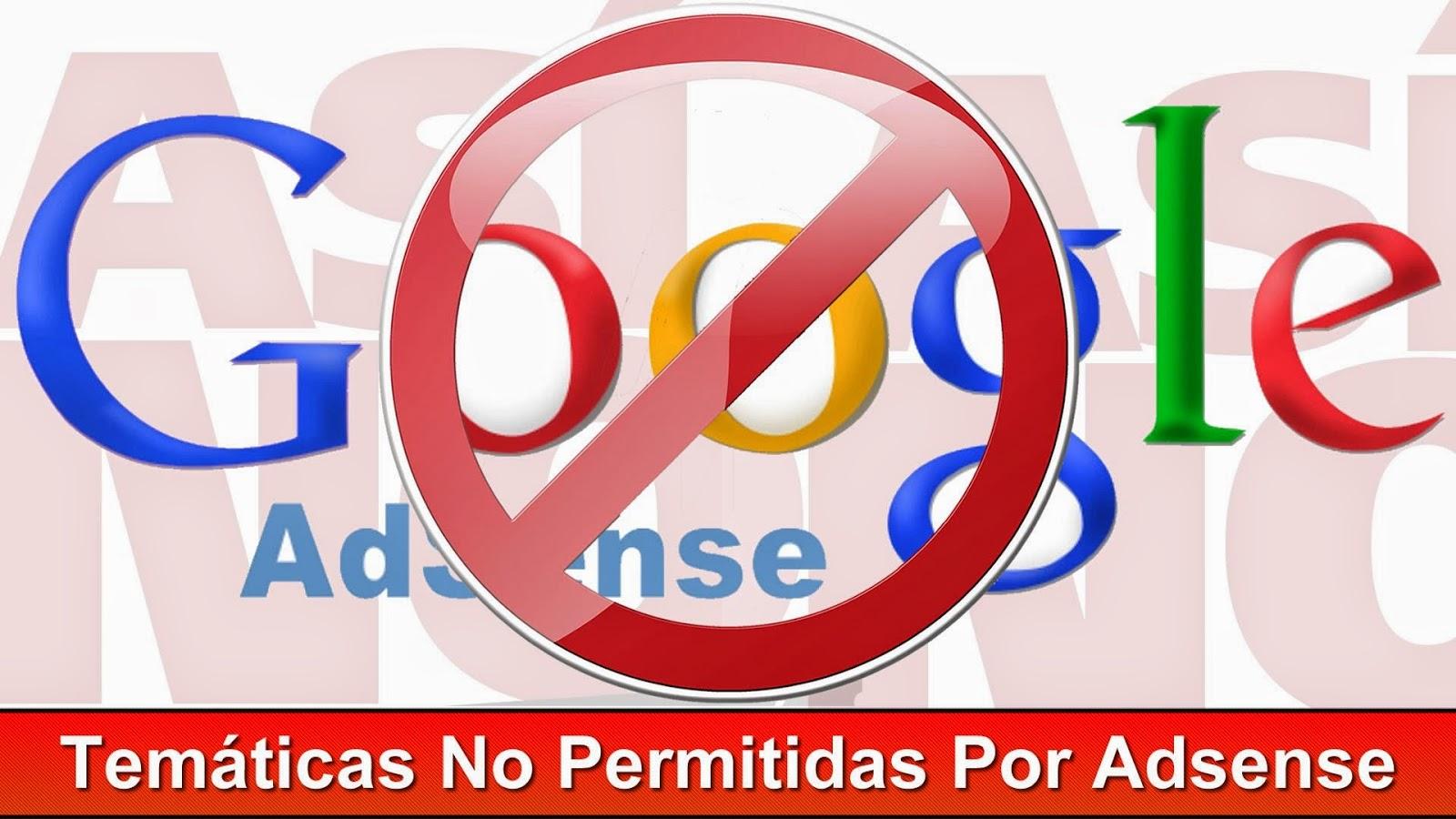 prohibido por adsense