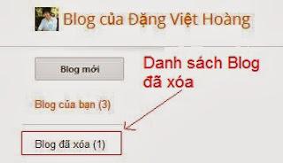 Khôi phục blog bị xóa