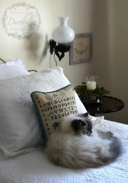 Sampler pillow and Bella