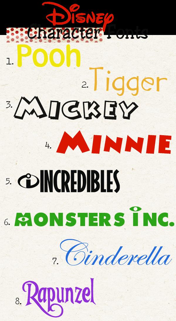 Fonts Disney