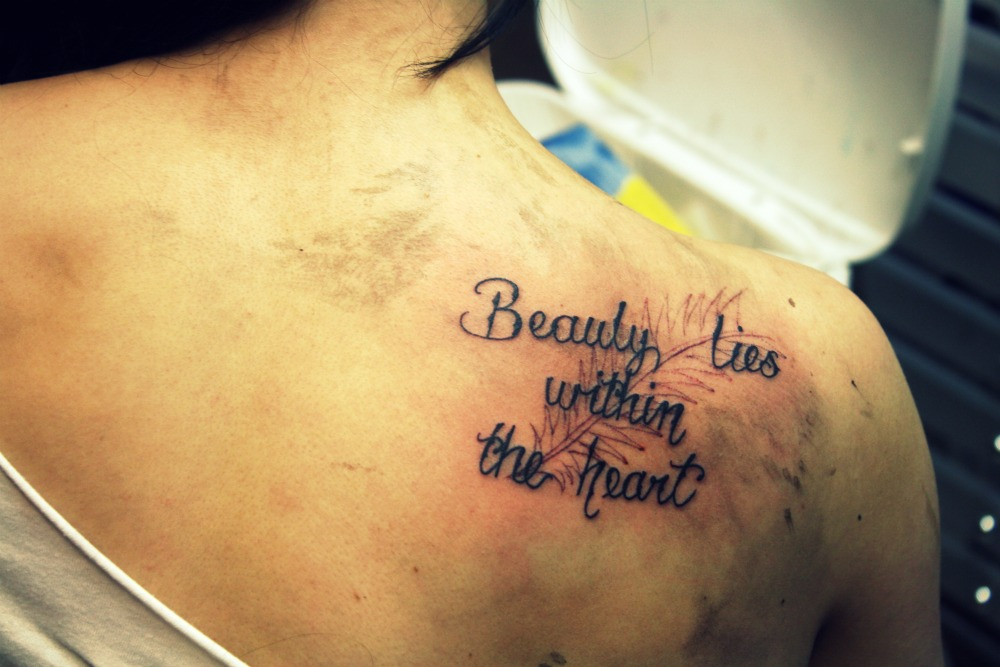 Beauty lies within tattoo