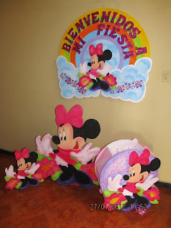 DECORACION MINNIE MOUSE 3 FIESTAS INFANTILES RECREACIONISTAS MEDELLIN
