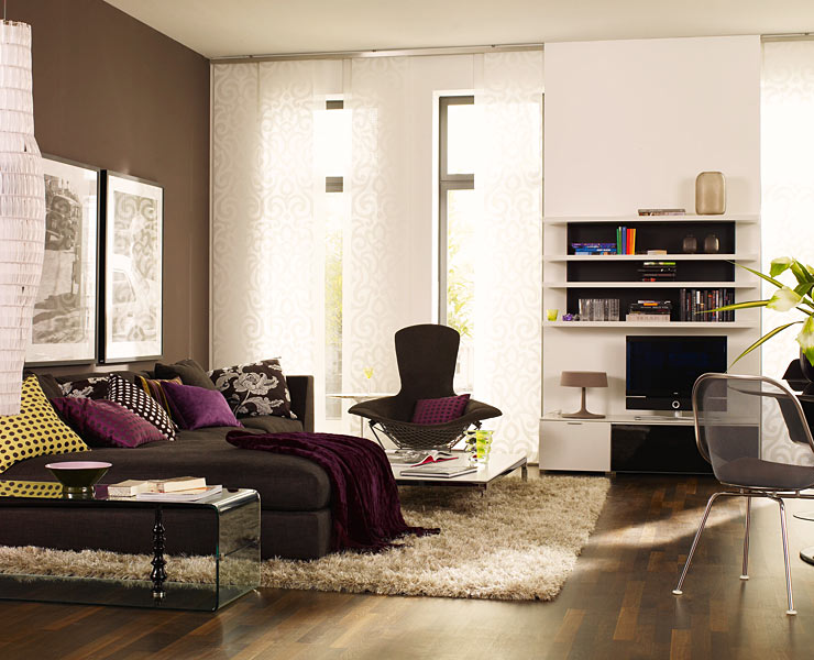 salas color chocolate ideas para decorar dise ar y mejorar tu casa. Black Bedroom Furniture Sets. Home Design Ideas