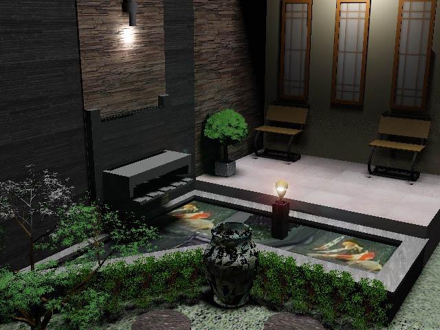 kolam ikan minimalis depan rumah submited images