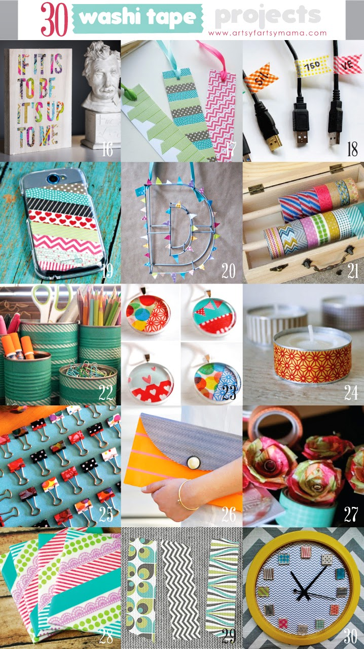 Washi Tape Crafts 30 Washi Tape Projects  Artsyfartsy Mama