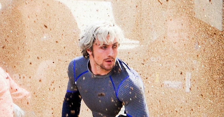 Pietro Maximoff (Aaron Taylor-Johnson) dans Avengers 2, de Joss Whedon