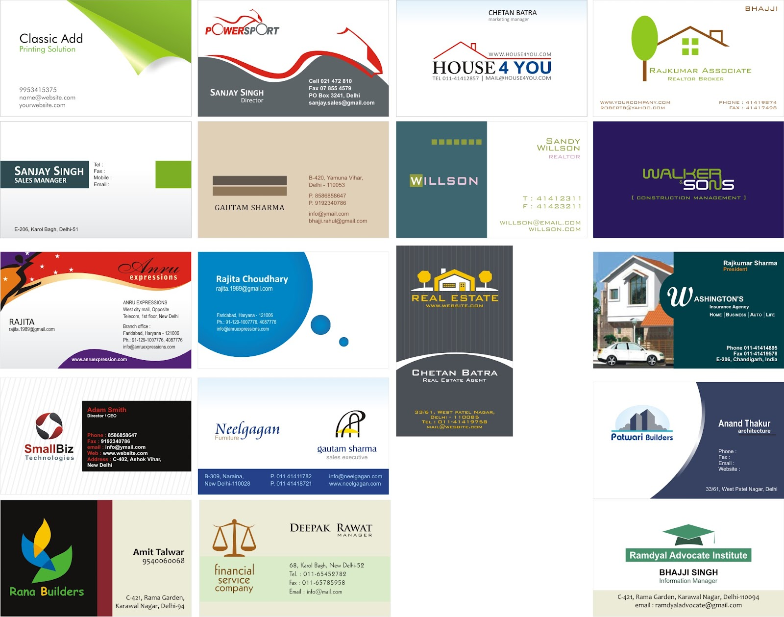 Graphic design visiting card visiting card reheart Images