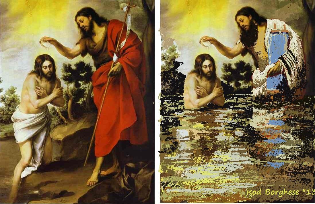 Baptism Of Christ Repainted