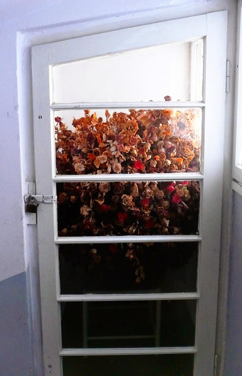 kwiaty za drzwiami