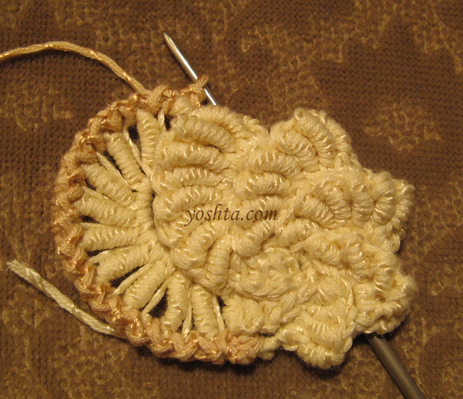 Вязание крючком ракушки из столбиков