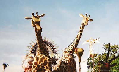 Lion King Celebration giraffes Disneyland parade