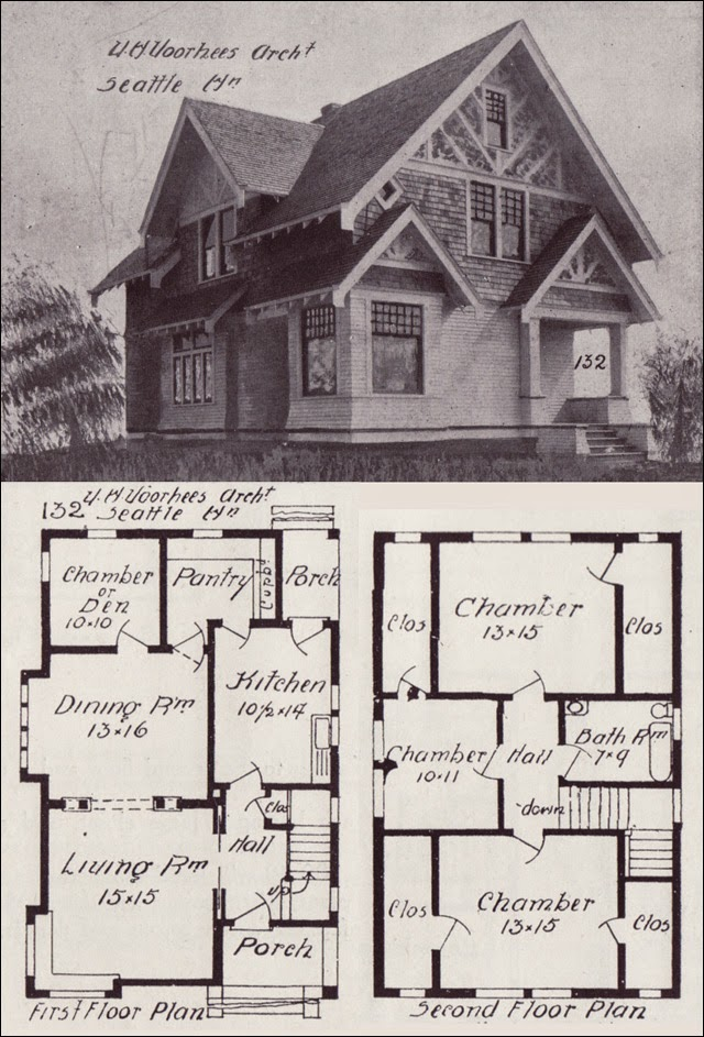 La maison boheme early 19th century craftsman homes for Tudor cottage plans