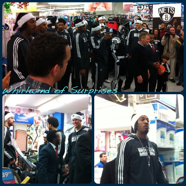 NBA Stars Brooklyn Nets rally for charity after Hurricane Sandy, Andray Blatche, Keith Bogans, MarShon Brooks, Josh Childress, Reggie Evans, Kris Humphries, Joe Johnson, Brook Lopez, Tornike Shengelia, Jerry Stackhouse, Tyshawn Taylor, Mirza Teletovic, Gerald Wallace, C.J. Watson, and Deron Williams