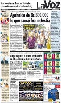 21/11/2019 PRIMERA PAGINA DE LA VOZ DE MIRANDA