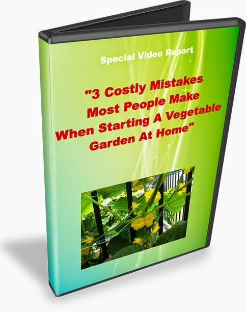 "FREE VIDEO REPORT: ""3 Costly Mistakes Most People Make When Starting A Vegetable Garden At Home"""