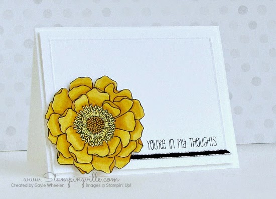 You're In My Thoughts | Stampingville #rubberstamping #cardmaking #StampinUp
