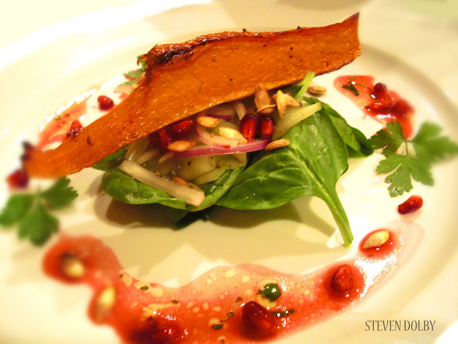 Roasted Butternut Squash and Pomegranate Salad by Steven Dolby