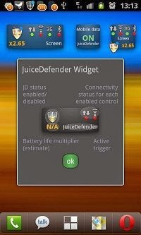 JuiceDefender Battery Saver Widget
