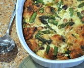 Asparagus Whole Wheat Bread Pudding