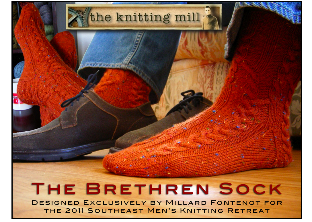 The knitting mill patterns for sale i was very excited and flattered when asked to contribute a pattern to the upcoming fall 2011 southeast mens knitting retreat i decided on a cabled sock bankloansurffo Image collections