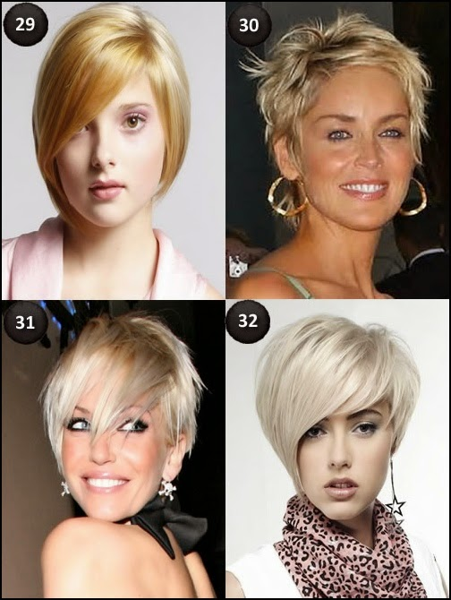 Blonde short hairstyles