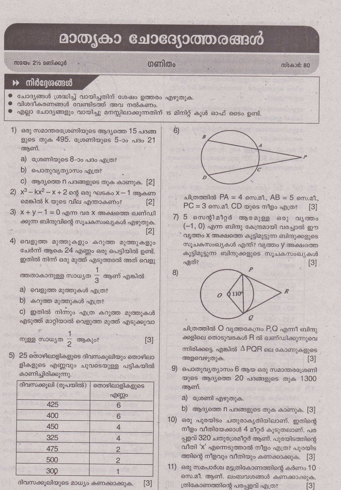Sslc question paper sslc question paper mathematics sslc question paper maths malvernweather Image collections