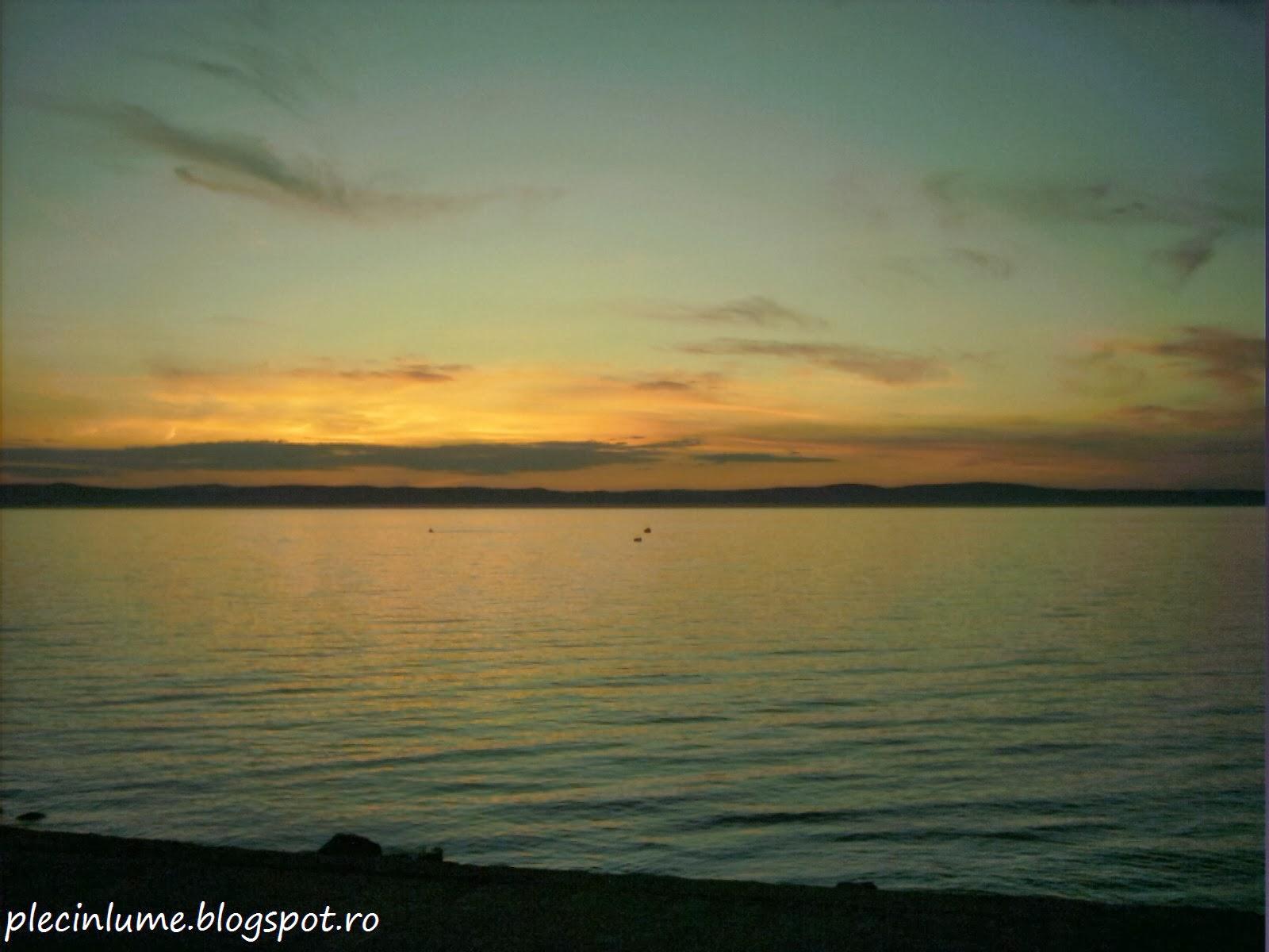 Lacul Balaton la apus