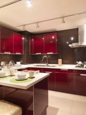 Decora el hogar cocinas color rojo - Cocinas de color rojo ...