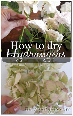 How to dry hydrangeas. So easy!