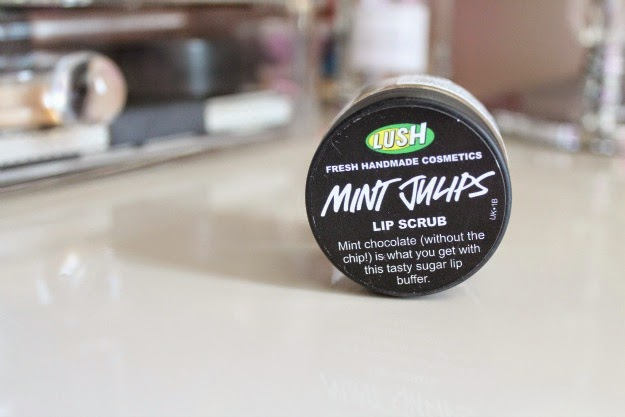 Lush mint tulips lip scrub review